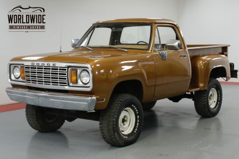 1978 Dodge POWER WAGON ONE OWNER, V8, PS, PB, FACTORY 4x4! | Denver, CO | Worldwide Vintage Autos in Denver, CO