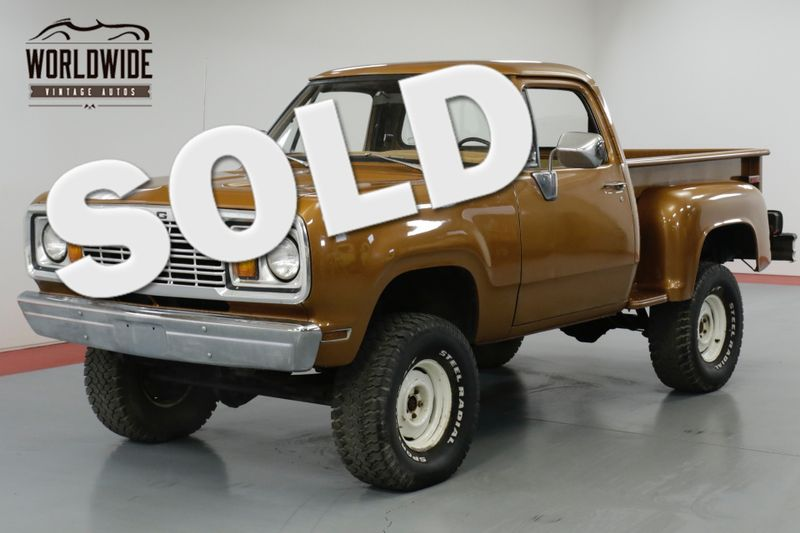 1978 Dodge POWER WAGON ONE OWNER, V8, PS, PB, FACTORY 4x4!   Denver, CO   Worldwide Vintage Autos