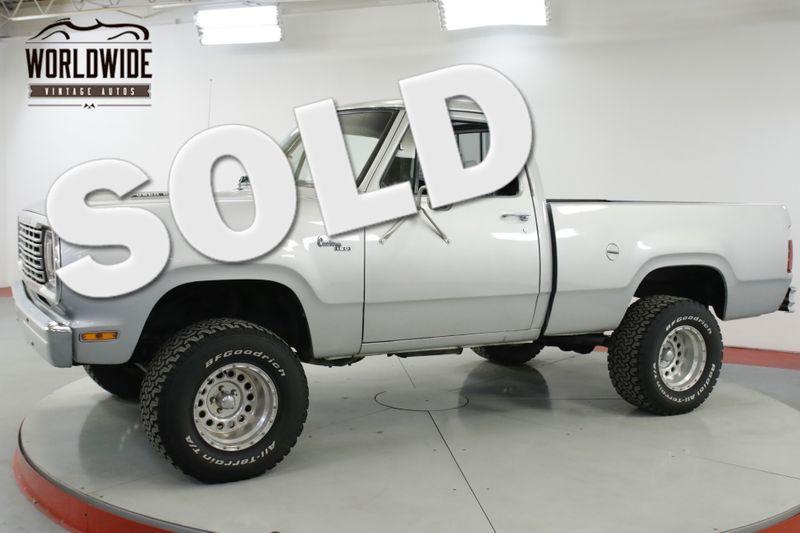 1978 Dodge POWER WAGON 360 V8 4X4 PS PB SUSPENSION LIFT SHORT BED | Denver, CO | Worldwide Vintage Autos