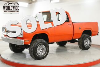 1978 Dodge POWER WAGON W100 4X4 PS PB V8 LIFTED SHORT BOX COLLECTOR  | Denver, CO | Worldwide Vintage Autos in Denver CO