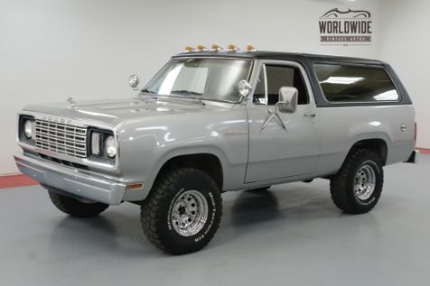1978 Dodge RAM CHARGER 360 V8. A/C! 4X4. RARE TWO YEAR BODY STYLE | Denver, CO | Worldwide Vintage Autos in Denver, CO