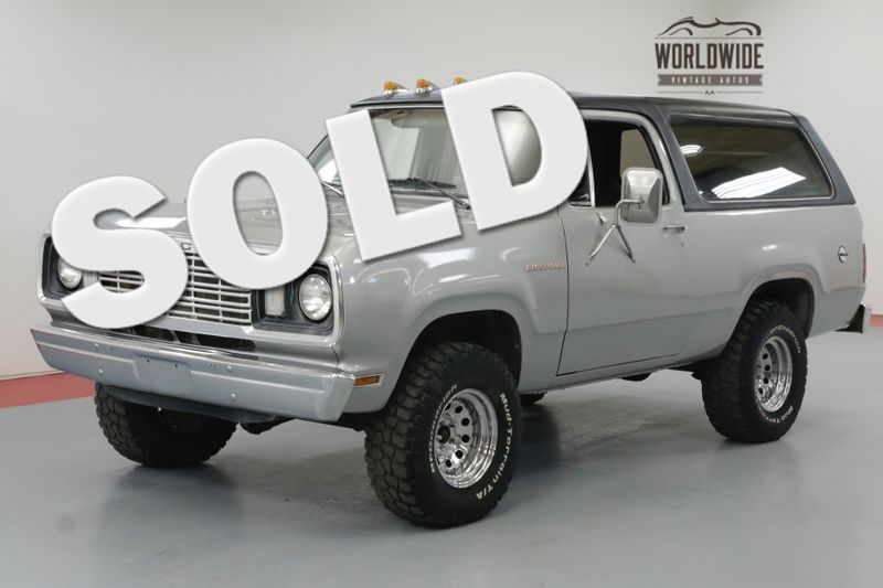 1978 Dodge RAM CHARGER 360 V8. A/C! 4X4. RARE TWO YEAR BODY STYLE | Denver, CO | Worldwide Vintage Autos