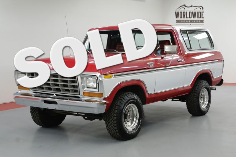 1978 Ford BRONCO TWO YEAR ONLY! RESTORED! REMOVABLE TOP! V8! | Denver, CO | Worldwide Vintage Autos