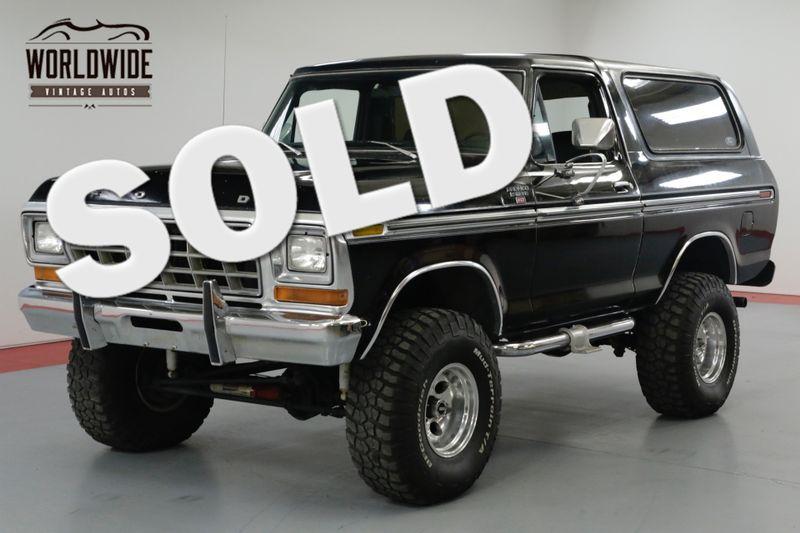 1978 Ford BRONCO BLACK  | Denver, CO | Worldwide Vintage Autos