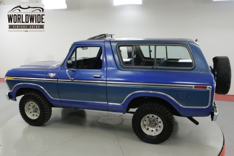 1978 Ford BRONCO RARE 4x4 CONVERTIBLE. 54K ORIGINAL MILES!  | Denver, CO | Worldwide Vintage Autos in Denver, CO