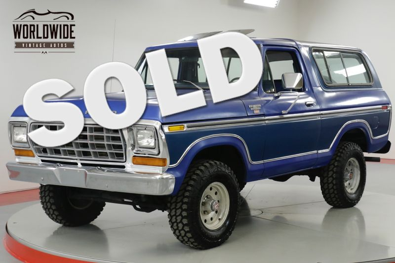 1978 Ford BRONCO RARE 4x4 CONVERTIBLE. 54K ORIGINAL MILES!  | Denver, CO | Worldwide Vintage Autos