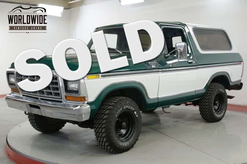 1978 Ford BRONCO RARE RANGER XLT TWO YEAR ONLY REMOVABLE TOP  | Denver, CO | Worldwide Vintage Autos