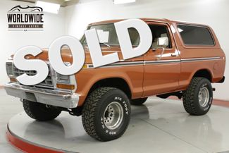 1978 Ford BRONCO  RESTORED CONVERTIBLE 460 V8 AC PS PB AUTO | Denver, CO | Worldwide Vintage Autos in Denver CO