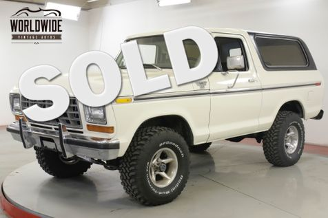 1978 Ford BRONCO 351M V8 AUTO 4X4 CONVERTIBLE TOP PS PB | Denver, CO | Worldwide Vintage Autos in Denver, CO