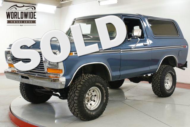 1979 Ford BRONCO RESTORED CHROME 351 V8 LIFT PS PB AUTO 4x4 | Denver, CO | Worldwide Vintage Autos in Denver CO