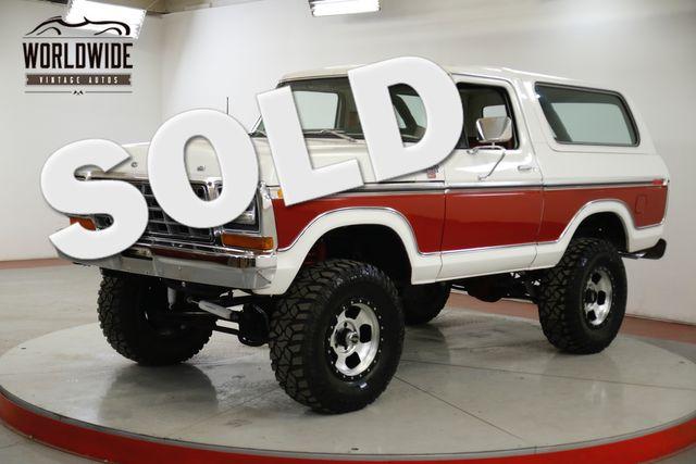 1978 Ford BRONCO 4x4 460 V8 C6 AC CONVERTIBLE RARE COLLECTOR  | Denver, CO | Worldwide Vintage Autos in Denver CO