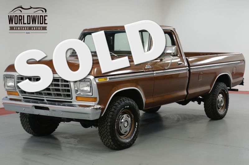 1978 Ford F250 HIGHBOY RANGER. 25K ORIGINAL MILES. 4x4. | Denver, CO | Worldwide Vintage Autos