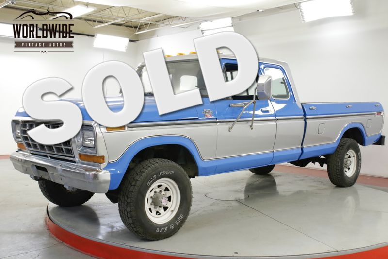 1978 Ford F250  RARE LARIAT SUPER CAB 4X4 400 NEW PAINT PS  | Denver, CO | Worldwide Vintage Autos