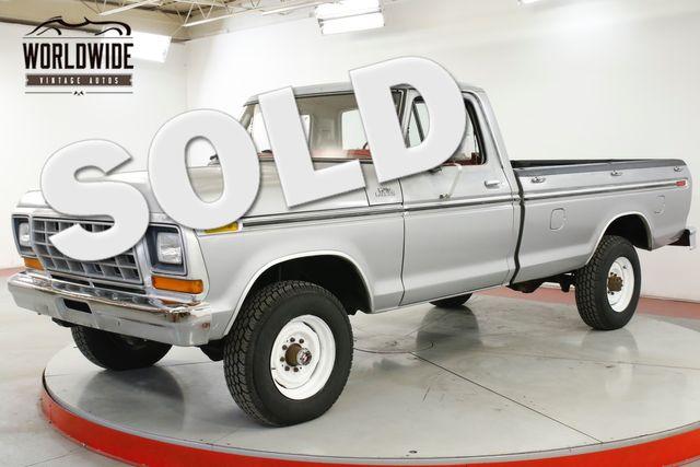 1978 Ford F250 RANGER PACKAGE 400V8 4-SPD TWO OWNER 59K MI   Denver, CO   Worldwide Vintage Autos in Denver CO