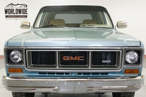 1978 GMC JIMMY 4X4 FUEL INJECTED V8 PS PB AC (VIP) | Denver, CO | Worldwide Vintage Autos in Denver, CO