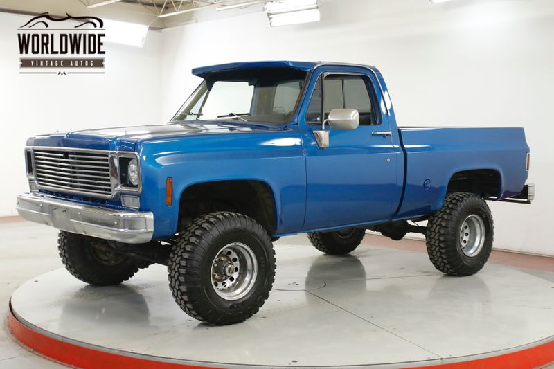 1978 GMC SIERRA 4X4 350 V8 AUTOMATIC 4X4 SHORTBOX LIFTED PS PB  | Denver, CO | Worldwide Vintage Autos