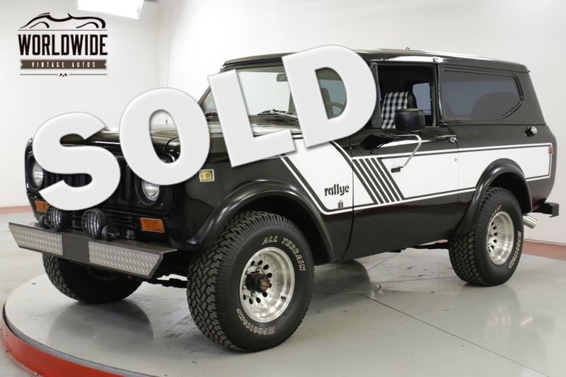 1978 International SCOUT  RALLYE PS PB V8 4 SPD CONVERTIBLE RARE | Denver, CO | Worldwide Vintage Autos