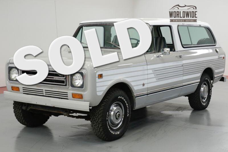 1978 International TRAVELER SCOUT. TIME CAPSULE COLLECTOR 46K ORIGINAL MILES    Denver, CO   Worldwide Vintage Autos