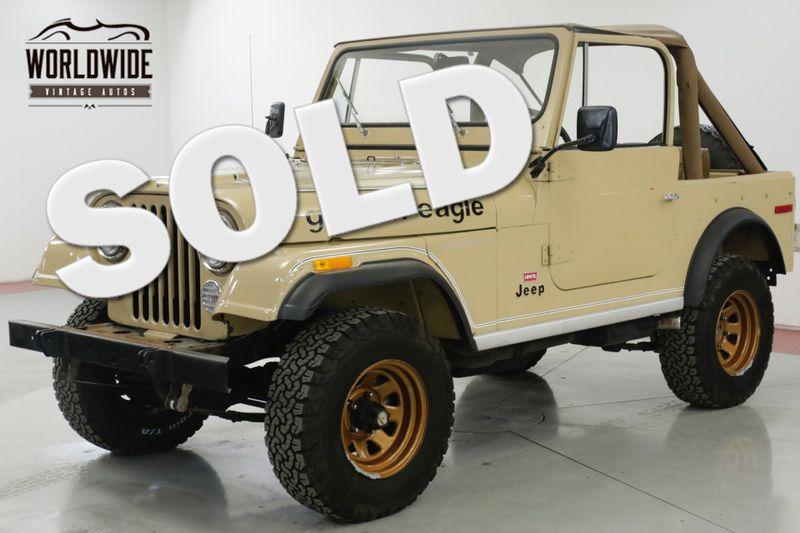 1978 Jeep CJ 7  GOLDEN EAGLE LEVI EDITION TIME CAPSULE    Denver, CO   Worldwide Vintage Autos