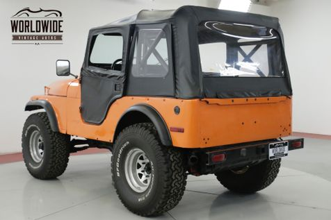1978 Jeep CJ5  304 V8 4X4 NEW TOP READY FOR THE SUMMER | Denver, CO | Worldwide Vintage Autos in Denver, CO
