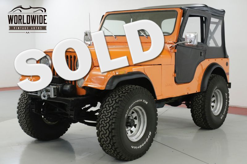 1978 Jeep CJ5  304 V8 4X4 NEW TOP READY FOR THE SUMMER   Denver, CO   Worldwide Vintage Autos