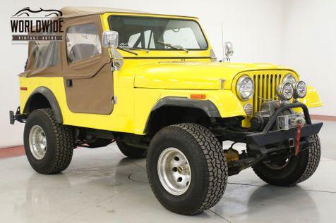 1978 Jeep CJ7 304 V8. 3-SPEED MANUAL. 4X4. FULL SOFT TOP    Denver, CO   Worldwide Vintage Autos in Denver, CO