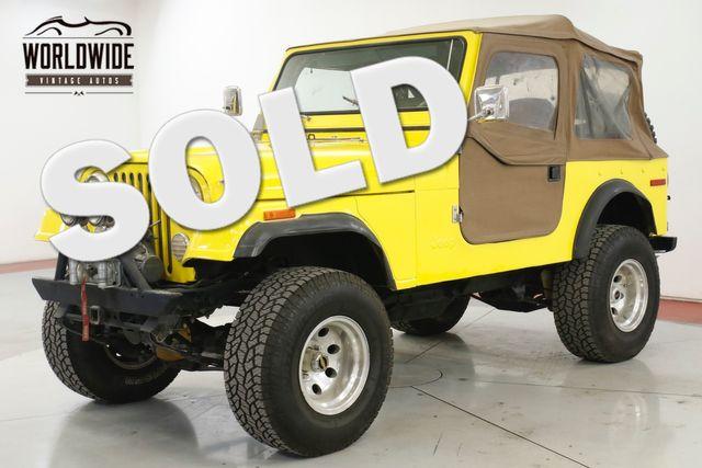 1978 Jeep CJ7 304 V8. 3-SPEED MANUAL. 4X4. FULL SOFT TOP  | Denver, CO | Worldwide Vintage Autos in Denver CO