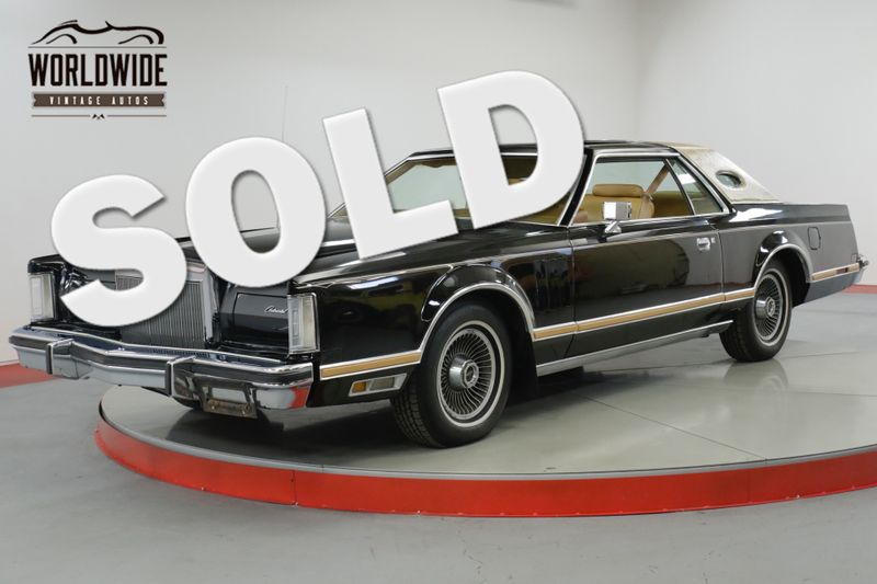 1978 Lincoln CONTINENTAL MARK V LOW ORIG MILES CLEAN BUILD SHEET OPTIONED | Denver, CO | Worldwide Vintage Autos