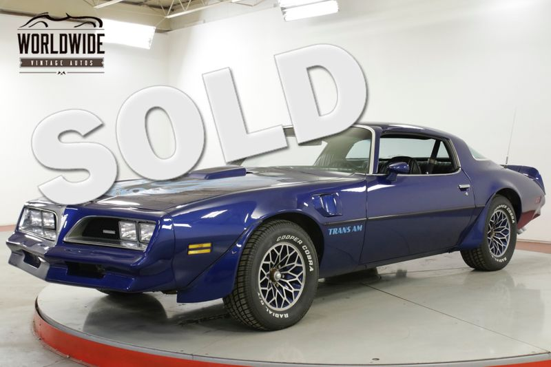 1978 Pontiac TRANS AM 403V8 AUTOMATIC PS PB A/C LOW MILES MUST SEE  | Denver, CO | Worldwide Vintage Autos