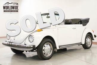 1978 Volkswagen BEETLE RESTORED CONVERTIBLE 10K MI RARE LATE PROD   Denver, CO   Worldwide Vintage Autos in Denver CO