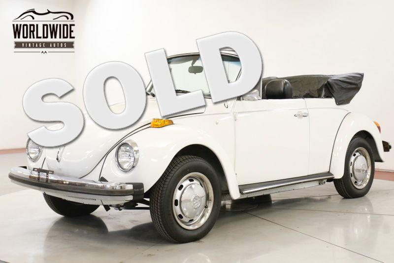 1978 Volkswagen BEETLE RESTORED CONVERTIBLE 10K MI RARE LATE PROD | Denver, CO | Worldwide Vintage Autos