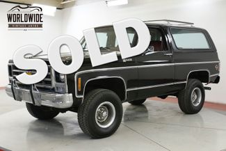 1979 Chevrolet BLAZER 1 OWNER! HEAVILY OPTIONED CONVERTIBLE 4x4 V8  | Denver, CO | Worldwide Vintage Autos in Denver CO
