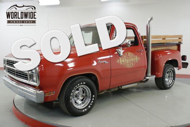 1979 Dodge LIL RED EXPRESS  ADVENTURER D150 RARE LOW PRODUCTION 77K MILES! | Denver, CO | Worldwide Vintage Autos in Denver CO