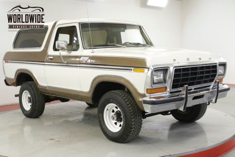 1979 Ford BRONCO  RANGER XLT TIME CAPSULE COLLECTOR 82K MI AC | Denver, CO | Worldwide Vintage Autos in Denver, CO