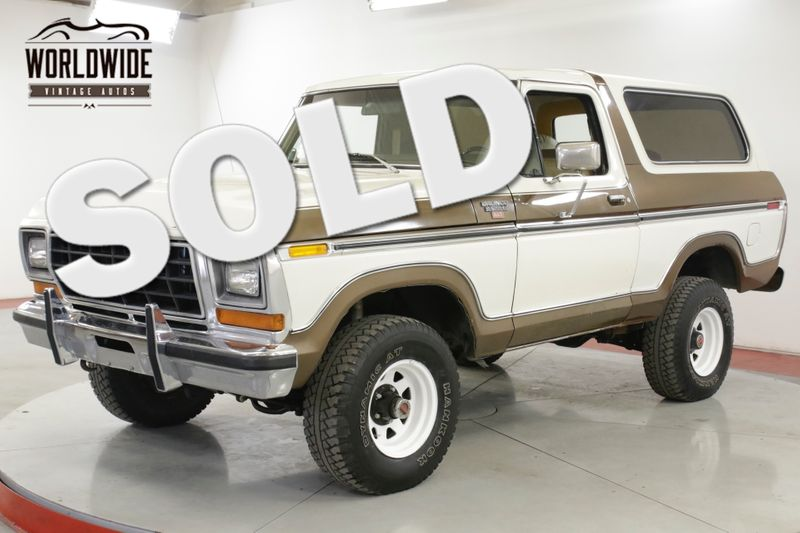 1979 Ford BRONCO  RANGER XLT TIME CAPSULE COLLECTOR 82K MI AC | Denver, CO | Worldwide Vintage Autos