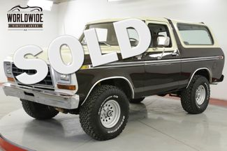 1979 Ford BRONCO RANGER 400 V8 CONVERTIBLE. AUTO. RARE 4x4 | Denver, CO | Worldwide Vintage Autos in Denver CO