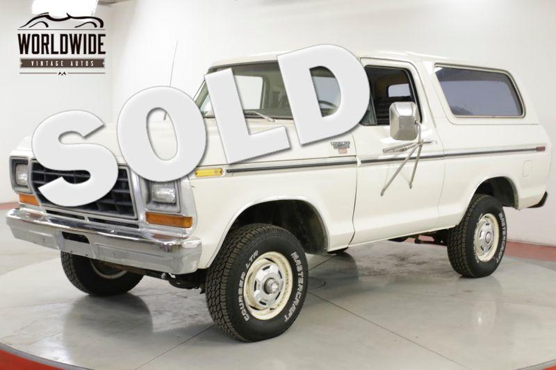1979 Ford BRONCO  400 V8 4x4 PS PB RARE 2ND GEN CONVERTIBLE  | Denver, CO | Worldwide Vintage Autos