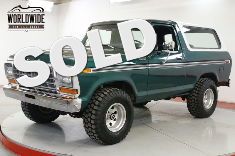 1979 Ford BRONCO XLT RESTORED CONVERTIBLE 400 V8 PS PB AUTO | Denver, CO | Worldwide Vintage Autos