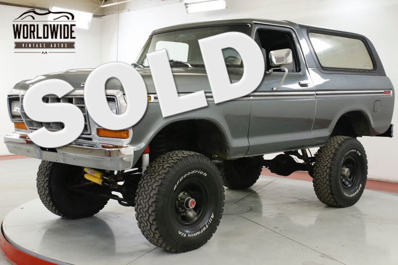 1979 Ford BRONCO 351M 4SPD 4X4 TOP TRACTION LOK 9IN REAR | Denver, CO | Worldwide Vintage Autos