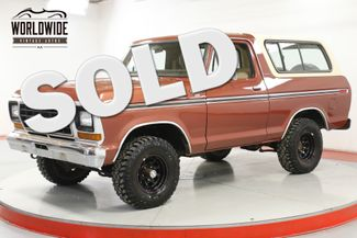 1979 Ford BRONCO  XLT 400 V8  REMOVABLE TOP PS PB | Denver, CO | Worldwide Vintage Autos in Denver CO