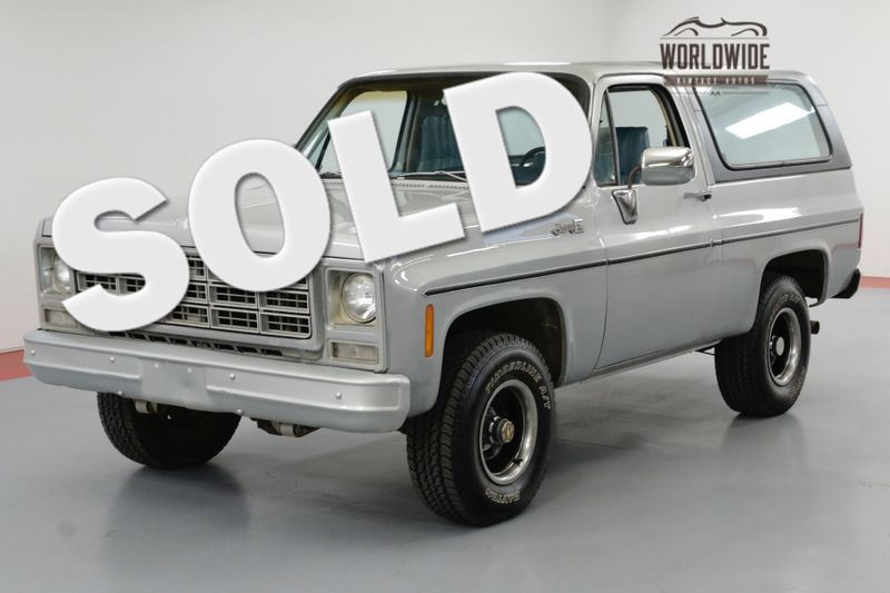1979 GMC JIMMY 46K ORIGINAL MILES! CONVERTIBLE! 4x4 BLAZER | Denver, CO | Worldwide Vintage Autos