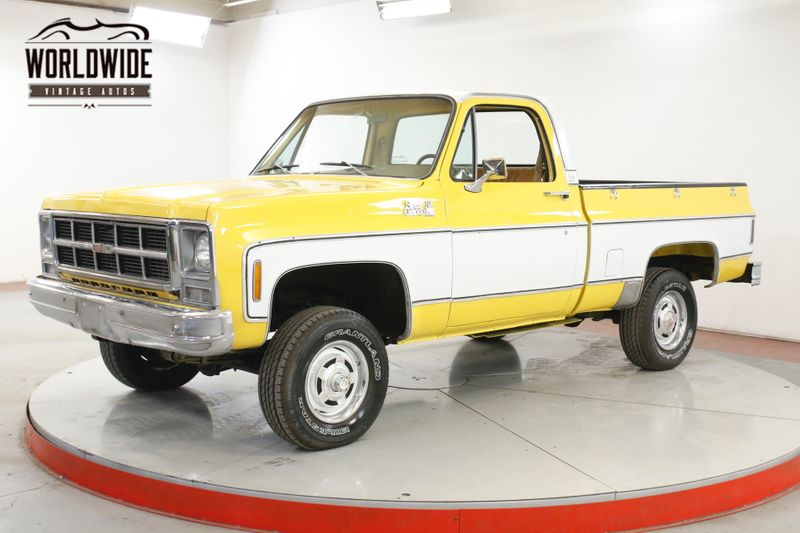 1979 GMC K15 4X4 350 4-SPEED SIERRA GRANDE SHORTBOX 4X4 FACTORY AC  | Denver, CO | Worldwide Vintage Autos