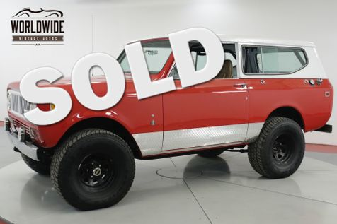 1979 International SCOUT 4X4 PS PB V8 REMOVABLE TOP DESIRABLE YEAR  | Denver, CO | Worldwide Vintage Autos in Denver, CO