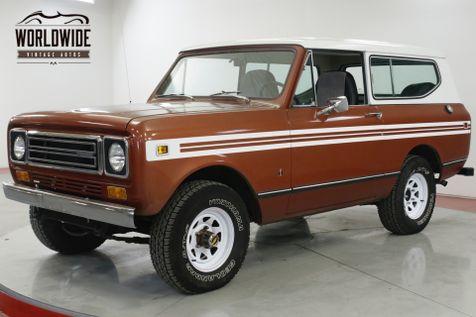 1979 International SCOUT V8 AUTO A/C | Denver, CO | Worldwide Vintage Autos in Denver, CO