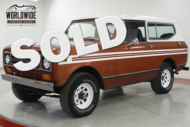 1979 International SCOUT V8 AUTO A/C | Denver, CO | Worldwide Vintage Autos