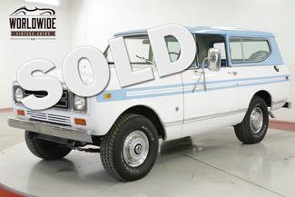 1979 International SCOUT 4X4 PS PB ONE OWNER LOW MI CO TRUCK   Denver, CO   Worldwide Vintage Autos in Denver CO