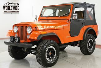 1979 Jeep CJ5 RESTORED 4x4 RENEGADE LIFT MUST SEE PS | Denver, CO | Worldwide Vintage Autos in Denver CO