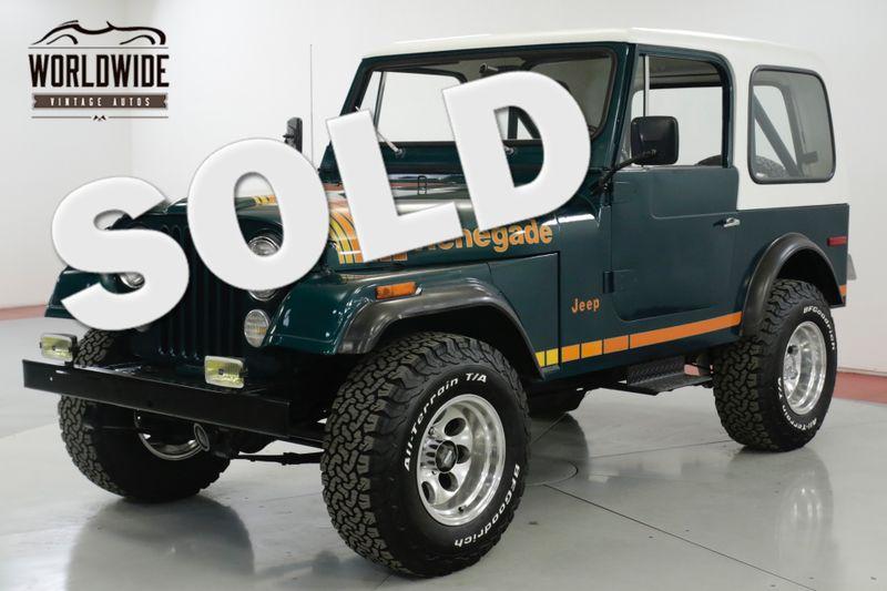 1979 Jeep CJ7 RENEGADE FRAME OFF RESTORED HARDTOP 4x4 | Denver, CO | Worldwide Vintage Autos
