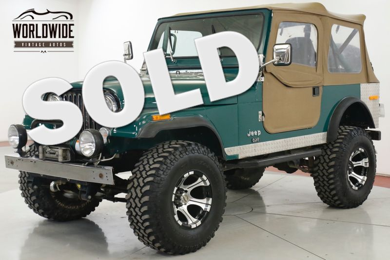 1979 Jeep CJ7  PROFESSIONALLY RESTORED 401 WINCH LIFT DISC | Denver, CO | Worldwide Vintage Autos