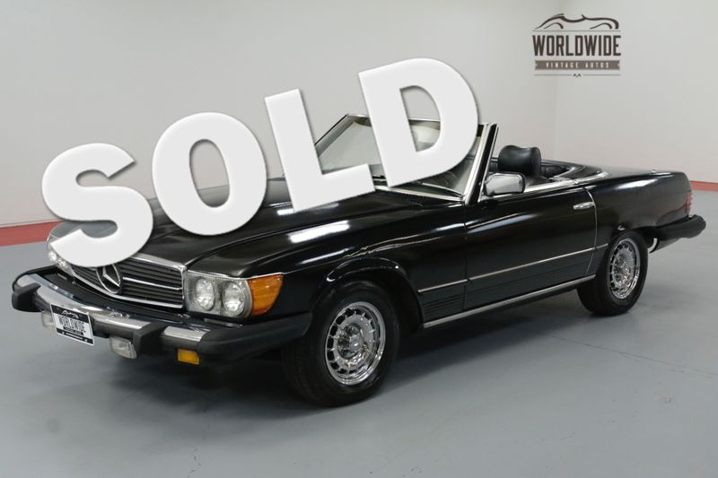 1979 Mercedes Benz 450sl Triple Black Extremely Low Miles Two Tops